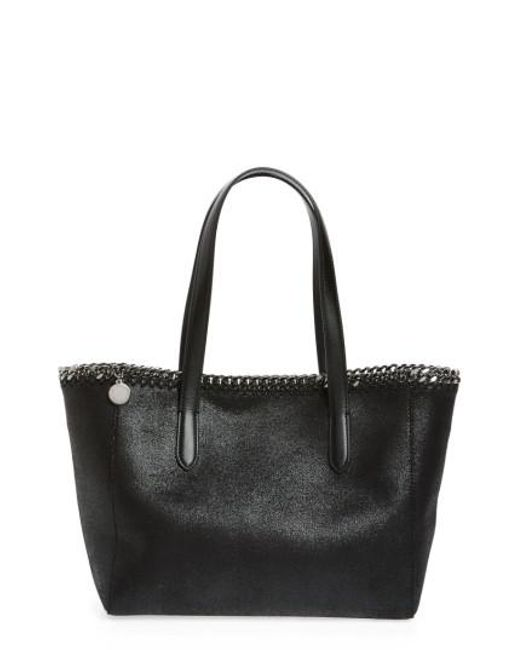 Stella McCartney - Black Small Falabella Shaggy Deer Faux Leather Tote - Lyst