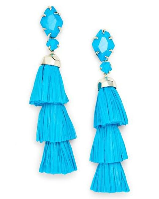 Kendra Scott - Blue Denise 3-in-1 Tassel Earrings - Lyst