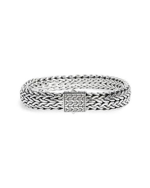 John Hardy - Metallic Classic Chain Large Flat Chain Bracelet for Men - Lyst