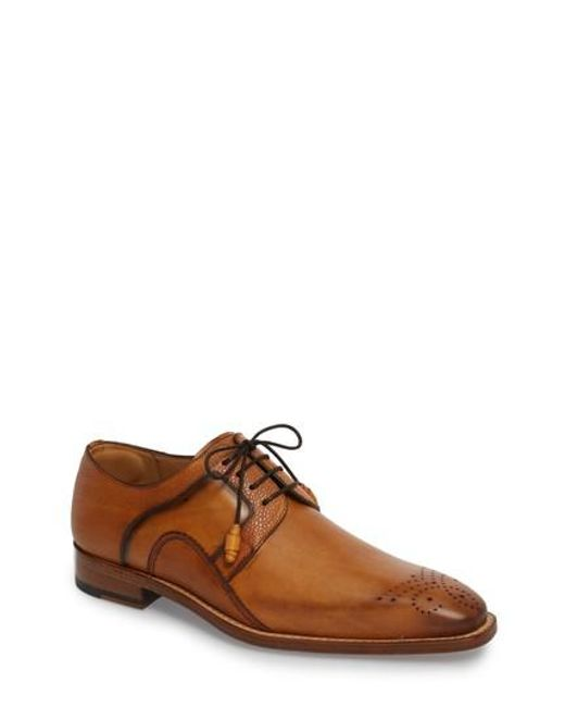 Mezlan - Brown Saturno Medallion Toe Derby for Men - Lyst