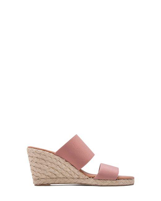 942af06403e Women's Pink Amalia Strappy Espadrille Wedge Slide Sandal