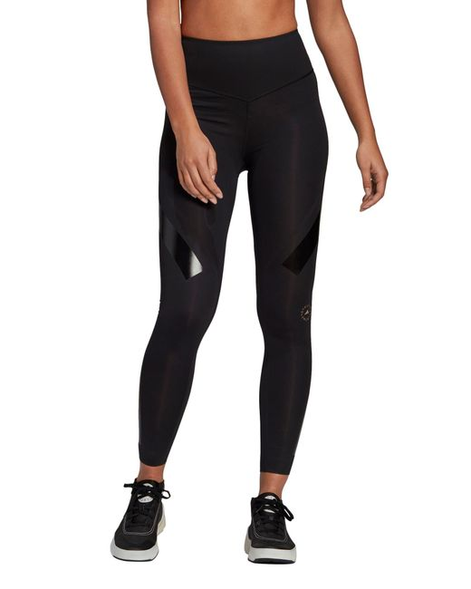 Adidas By Stella McCartney Black Support Core Primegreen High Waist Leggings