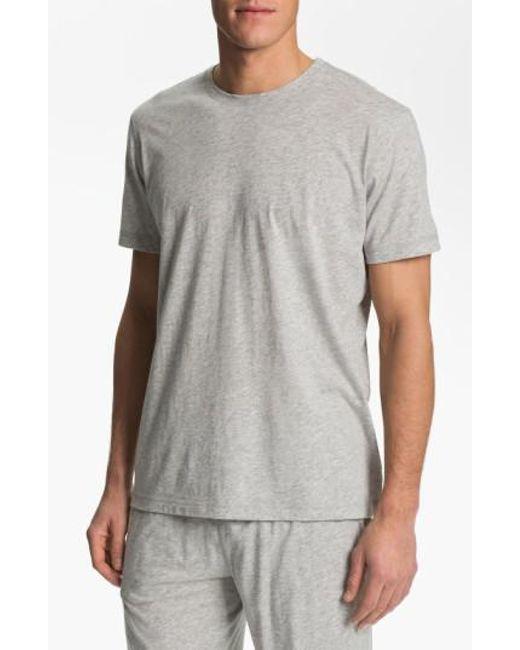 Daniel Buchler | Gray Peruvian Pima Cotton T-shirt for Men | Lyst