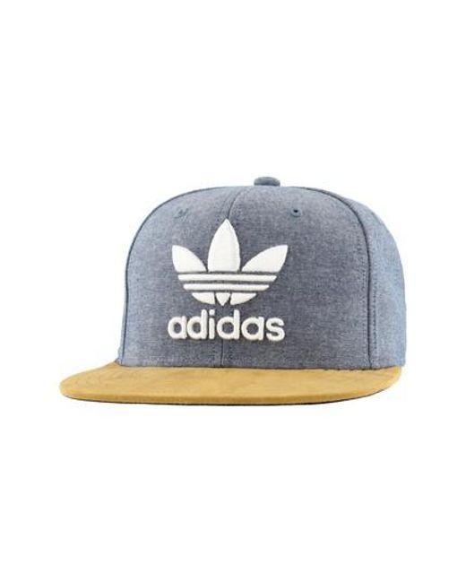 Lyst - Adidas Originals Trefoil Plus Cap - in Blue for Men 1cc34f7daf16
