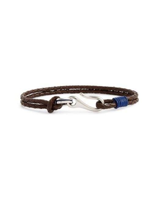 Ted Baker | Blue Twirl Braided Leather Bracelet for Men | Lyst