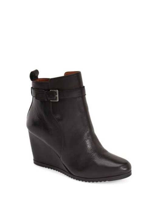 Gentle Souls | Black 'gabril' Water Resistant Wedge Bootie | Lyst