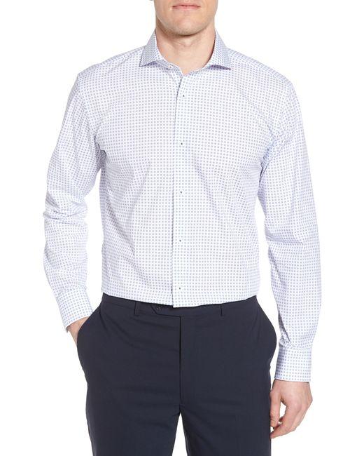 Bugatchi - White Trim Fit Dot Dress Shirt for Men - Lyst