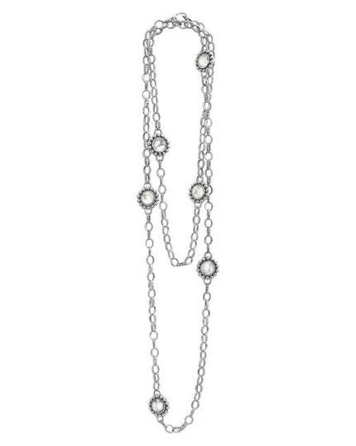 Lagos | Metallic 'maya' Long Station Necklace | Lyst