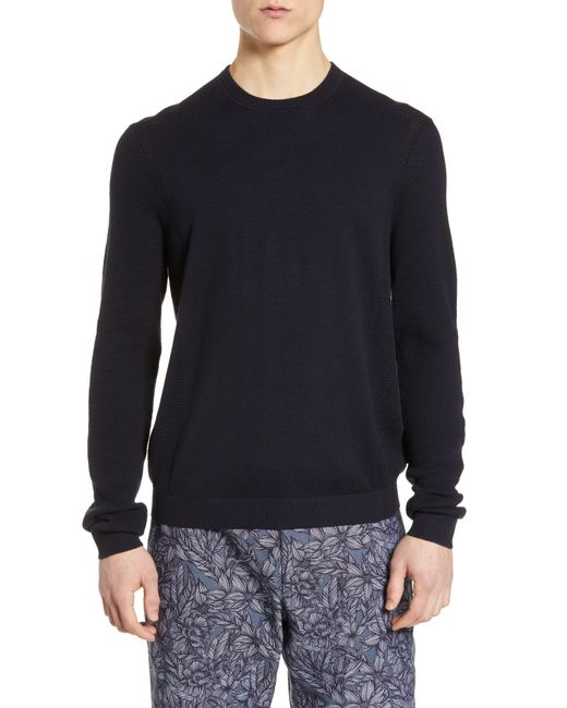 Ted Baker - Blue Trull Slim Fit Crewneck Sweater for Men - Lyst