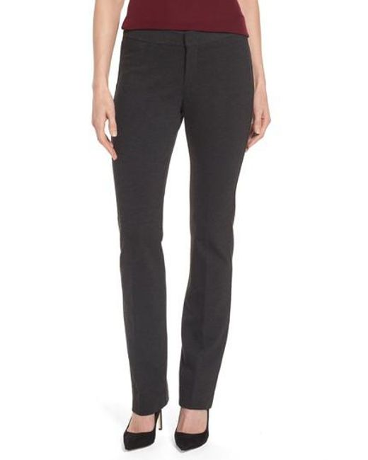 NYDJ | Gray Stretch Knit Trousers | Lyst