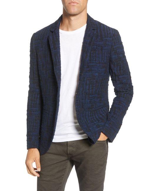John Varvatos Blue Slim Fit Sport Coat for men