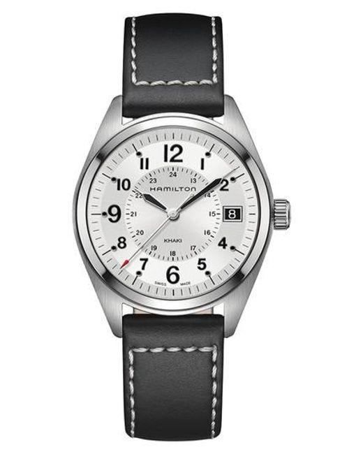 Hamilton - Metallic Khaki Field Leather Strap Watch for Men - Lyst