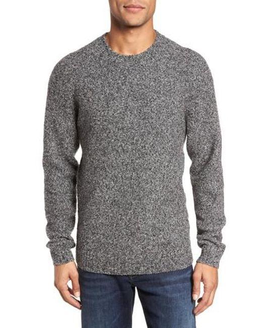 Bonobos Boucle Raglan Wool Blend Sweater in Gray for Men | Lyst