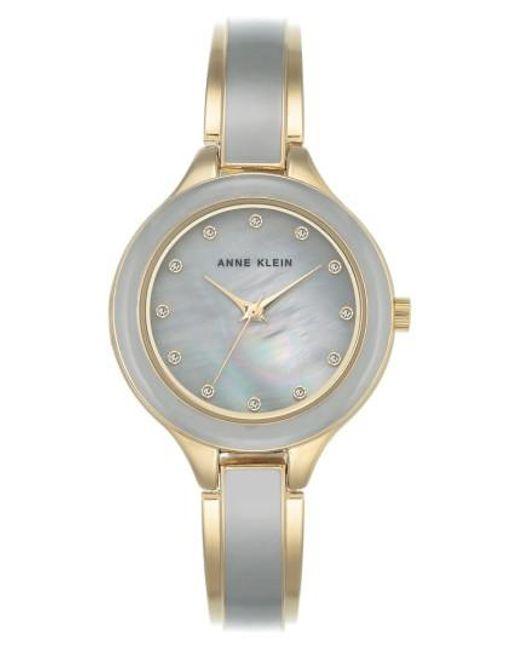 Anne Klein | Metallic Enamel Bangle Watch | Lyst