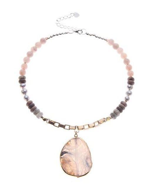 Nakamol - Multicolor Semiprecious Stone & Pearl Pendant Necklace - Lyst