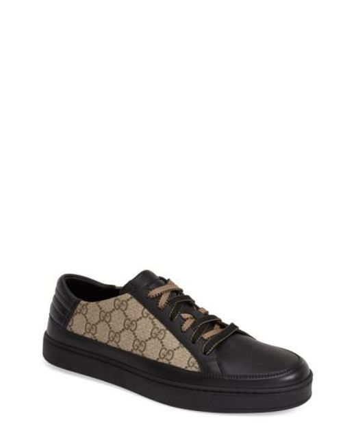 Gucci | Black 'Common' Low-Top Sneaker for Men | Lyst