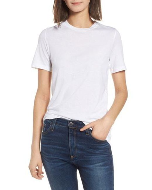 AG Jeans - White Crewneck Tee - Lyst