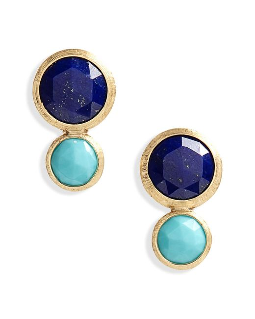 Marco Bicego - Blue Jaipur Lapis & Turquoise Stud Earrings - Lyst