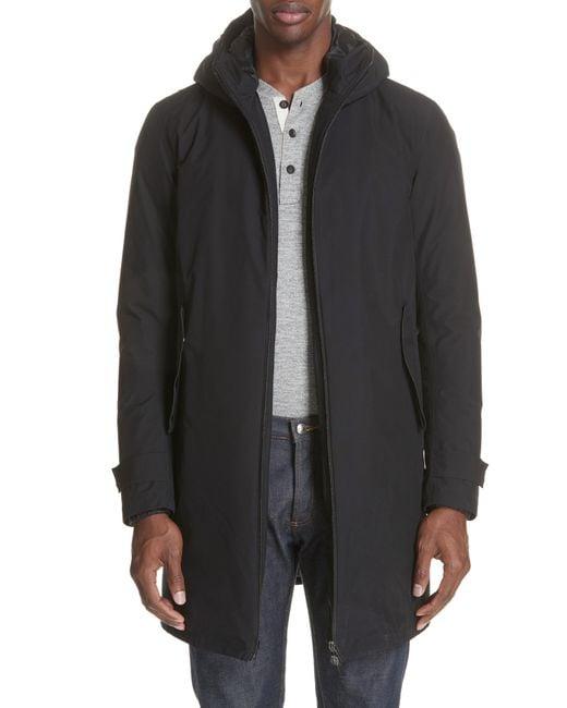 Herno - Black 3-in-1 Gore-tex Car Coat for Men - Lyst