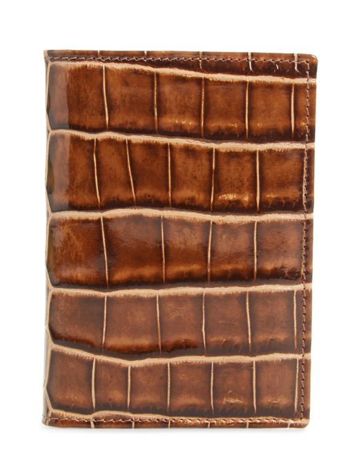 Mezlan - Brown Alligator Leather Trifold Wallet for Men - Lyst