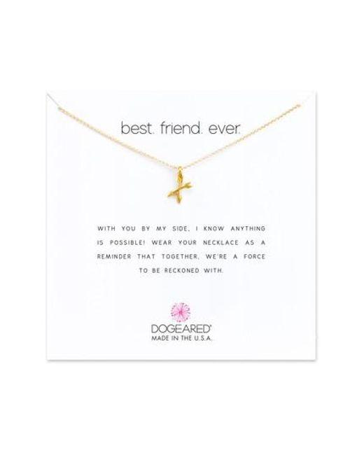 Dogeared | Metallic Best Friend Ever Pendant Necklace | Lyst