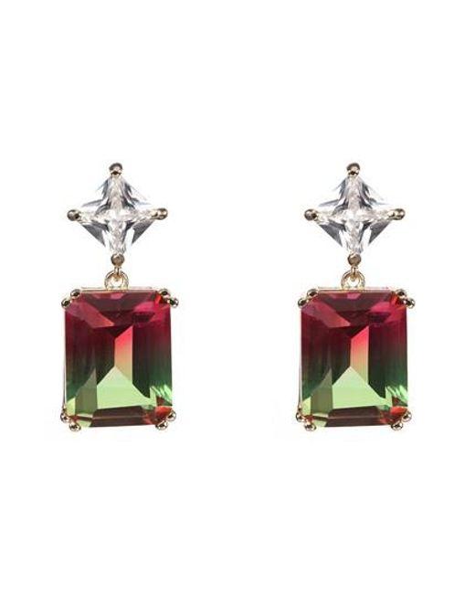 Nina - Multicolor Deco Double Drop Earrings - Lyst