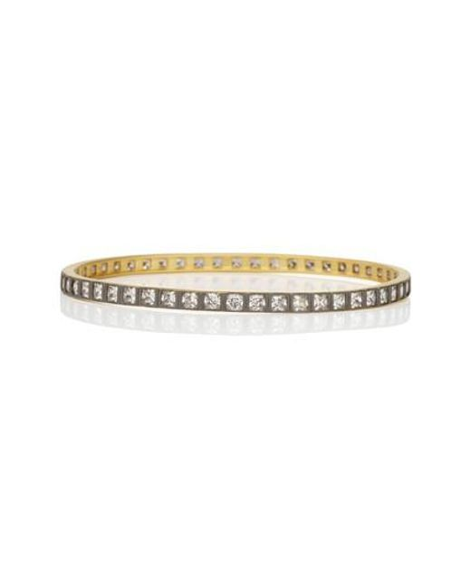 Freida Rothman | Metallic Square Radiance Cubic Zirconia Bangle (special Purchase) | Lyst