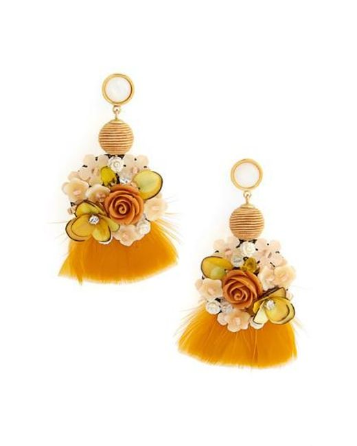 Lizzie Fortunato - Metallic French Marigold Drop Earrings - Lyst