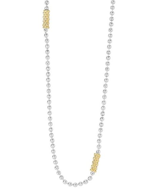 Lagos | Metallic Caviar 'superfine' Two-tone Bead Necklace | Lyst