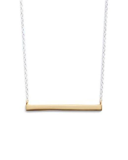 Argento Vivo | Metallic Bar Pendant Necklace | Lyst