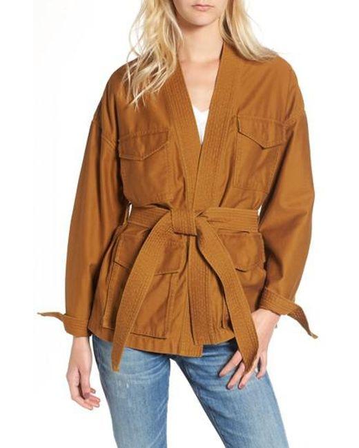 Madewell | Brown Kimono Jacket | Lyst