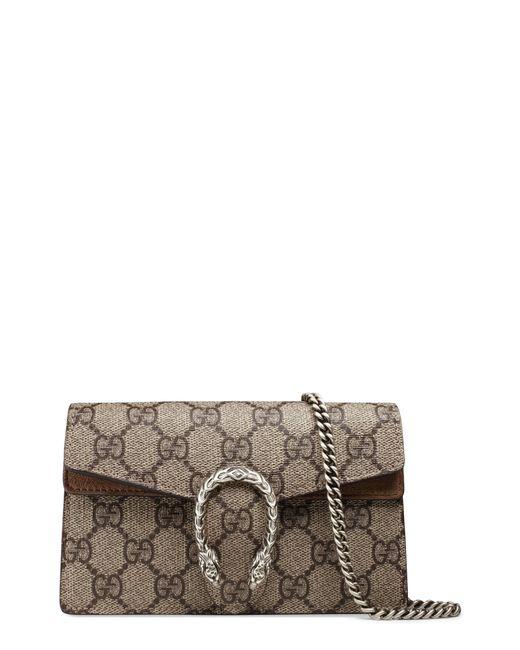 9aa7ad98647 Gucci - Natural Super Mini Dionysus Gg Supreme Canvas   Suede Shoulder Bag  - Lyst ...