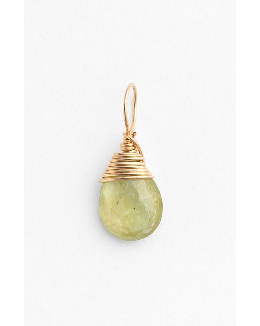 Nashelle - Green 14k-gold Fill & Semiprecious Stone Charm - Lyst