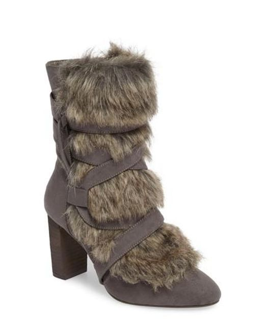 Charles David | Brown Alberta Faux Fur Boot | Lyst