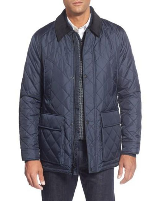 Cole Haan | Blue Quilted Jacket for Men | Lyst