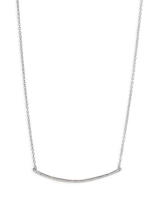 Gorjana | Metallic 'taner' Small Bar Pendant Necklace | Lyst