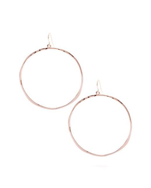 Gorjana | Pink 'g Ring' Hoop Earrings | Lyst