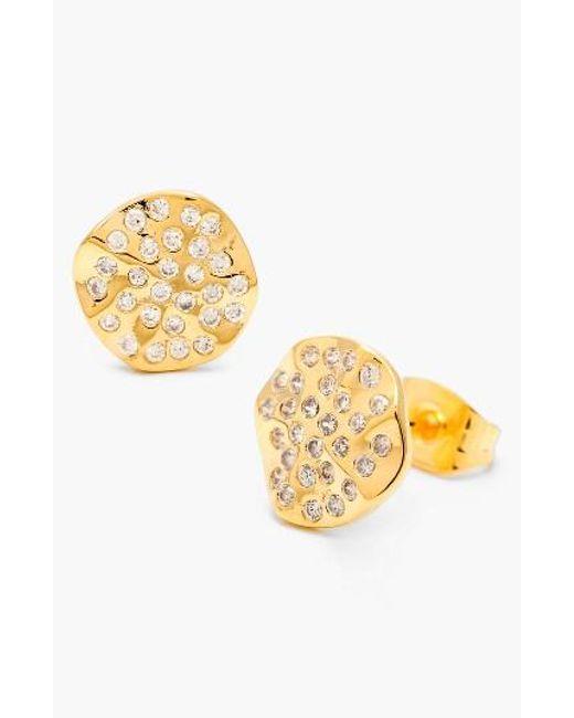 Gorjana | Metallic 'aurora' Pave Stud Earrings | Lyst