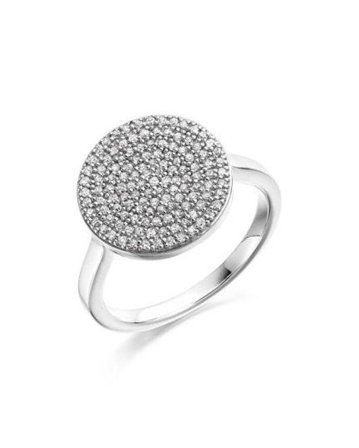 Monica Vinader | Metallic 'ava' Diamond Disc Ring | Lyst