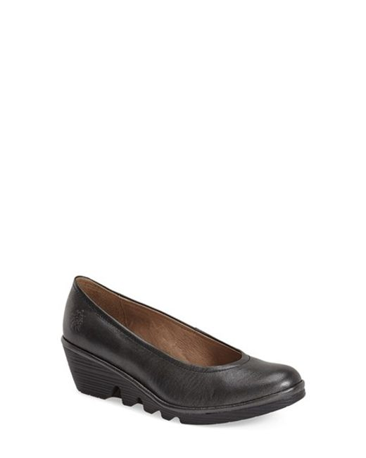 Fly London | Gray Mid Wedge Pump | Lyst