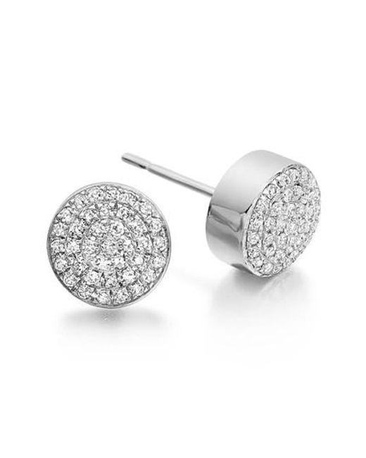 Monica Vinader - Metallic 'ava' Diamond Button Stud Earrings - Lyst