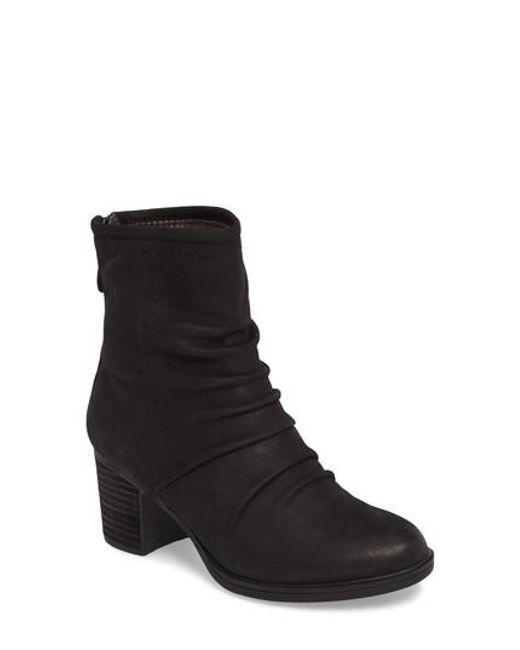Cobb Hill | Black Natashya Slouchy Block Heel Bootie | Lyst