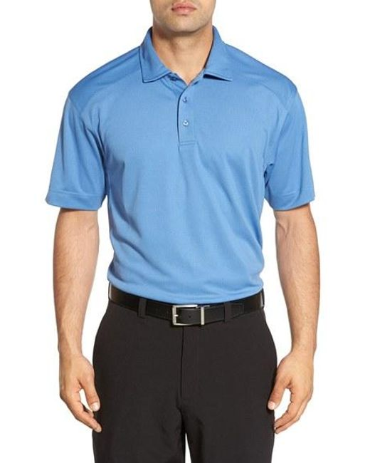 Cutter & Buck | Blue 'genre' Drytec Moisture Wicking Polo for Men | Lyst