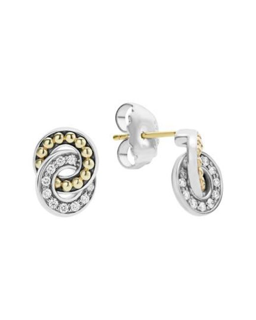 Lagos - Metallic Enso Diamond Stud Earrings - Lyst