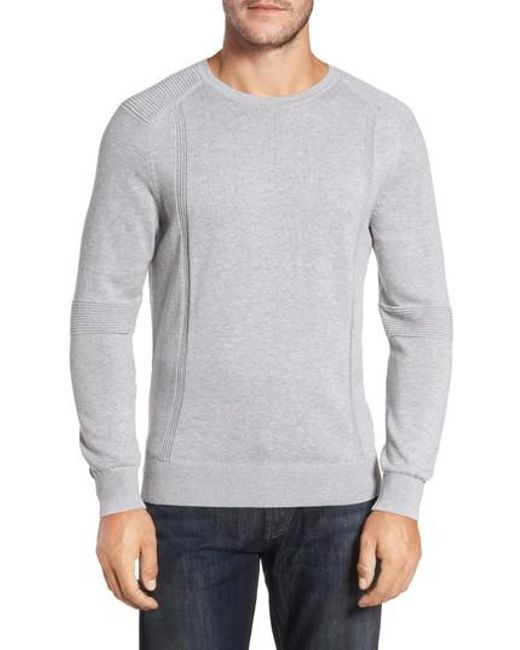 Bobby Jones | Gray R18 Chopper Rib Detail Sweater for Men | Lyst