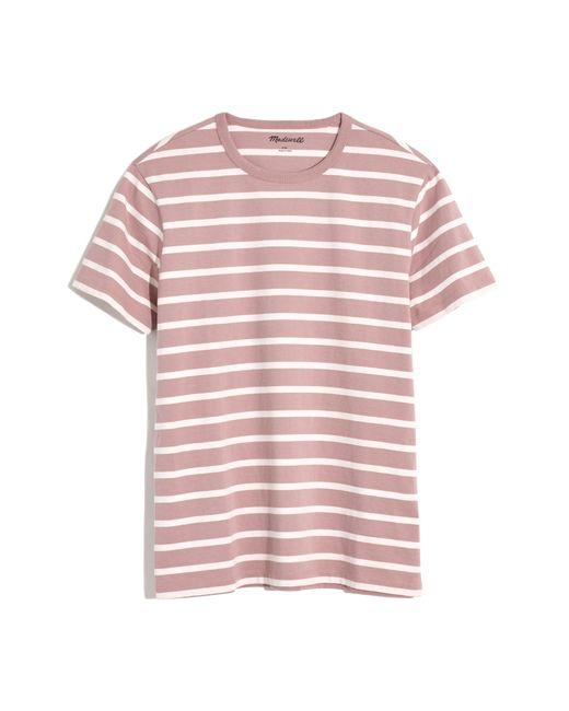 Madewell Pink Men's Allday Fayette Stripe Crewneck T-shirt for men