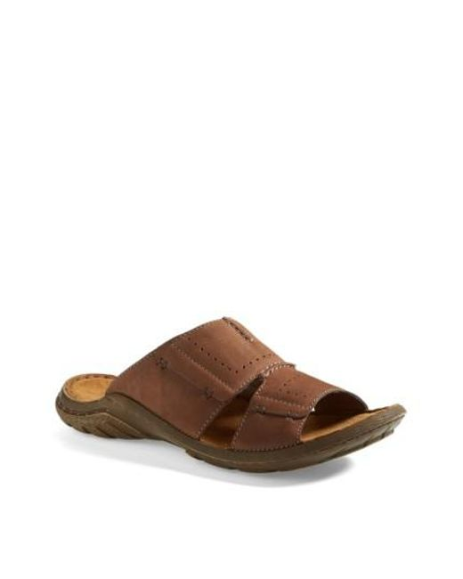 Josef Seibel | Brown 'logan 21' Slide Sandal for Men | Lyst