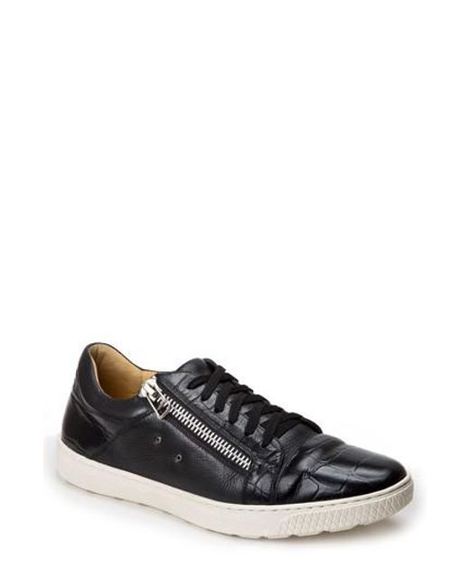 Sandro Moscoloni | Black Cassius Side Zip Sneaker for Men | Lyst
