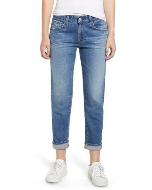 AG Jeans - Blue Ex-boyfriend Relaxed Slim Jeans - Lyst