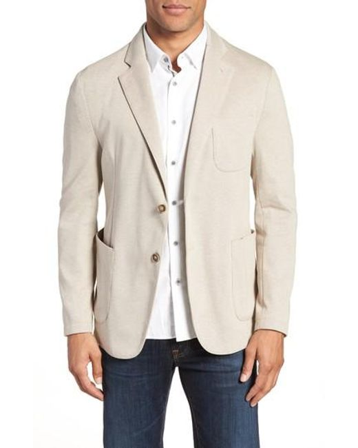 Bugatchi - Blue Regular Fit Pique Blazer for Men - Lyst